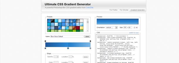 gradient editor tool