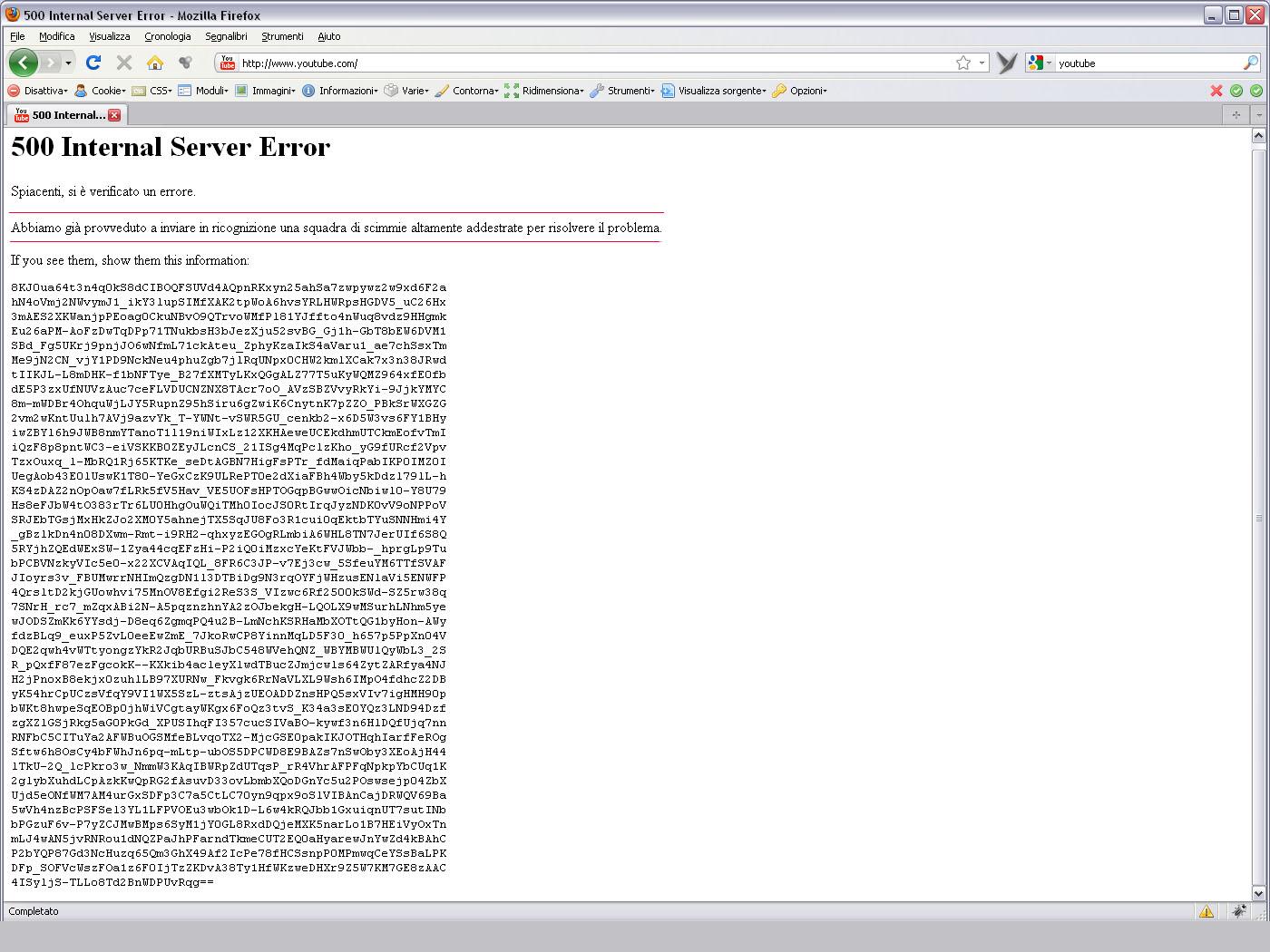 le scimmie di youtube